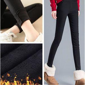 LEGGING Leggings d hiver pour femmes Pantalon noir chaud C 690b97fe9a6