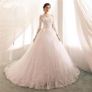 766851c1552 ROBE DE CÉRÉMONIE Robes de mariée Vintage avec manches longues tran