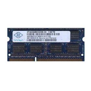 MÉMOIRE RAM 4Go RAM PC Portable SODIMM Nanya NT4GC64B8HG0NS-CG