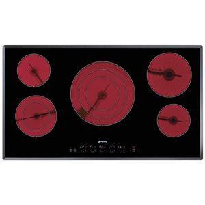 PLAQUE VITROCÉRAMIQUE  Table Cuisson Vitrocéramique 90cm SE2951TC2 Noir