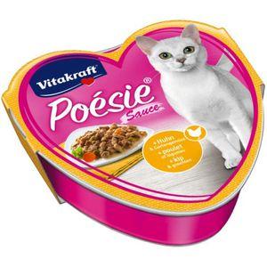 BOITES - PATÉES Vitakraft chat alimentaire avec sauce Poésie, poul