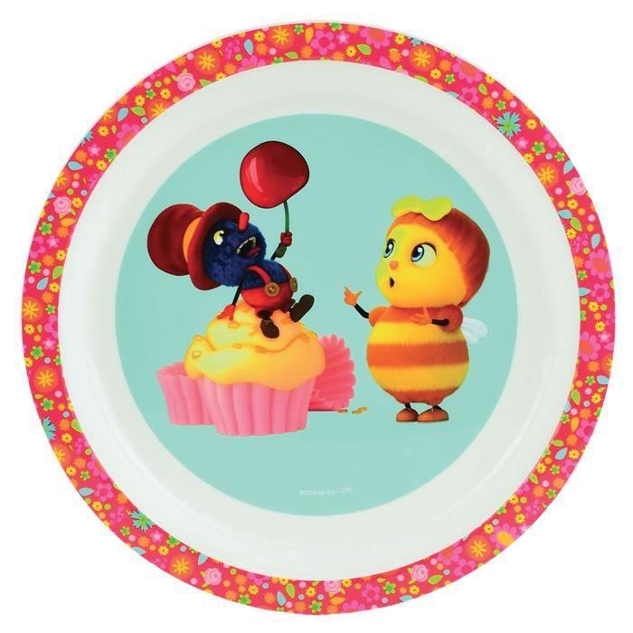 Fun House droles de petites betes assiette micro-ondable pour enfant