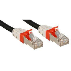 LINDY Câble réseau patch en cuivre - 6A S/FTP - PIMF Premium - 10 Gbit - 500Mhz - LSOH - 0,3 m - Noir