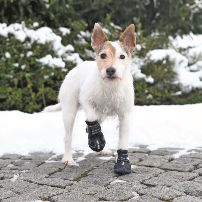 TRIXIE Bottes de protection Walker Active 2 pièces XS - S - Noir - Pour chien