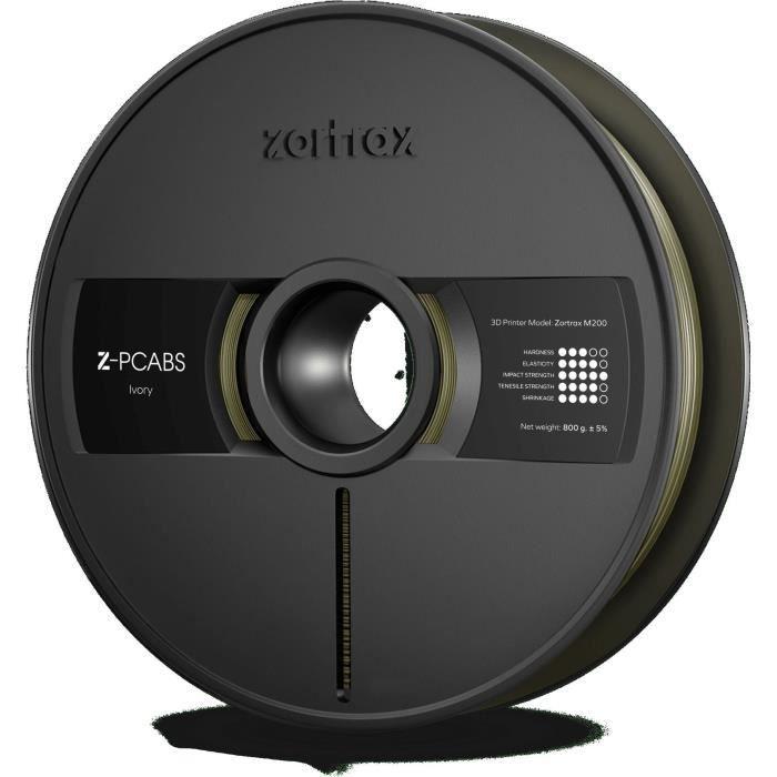 ZORTRAX Filament pour Imprimante 3D Z-PC-ABS M200 - Ivoire - 800g