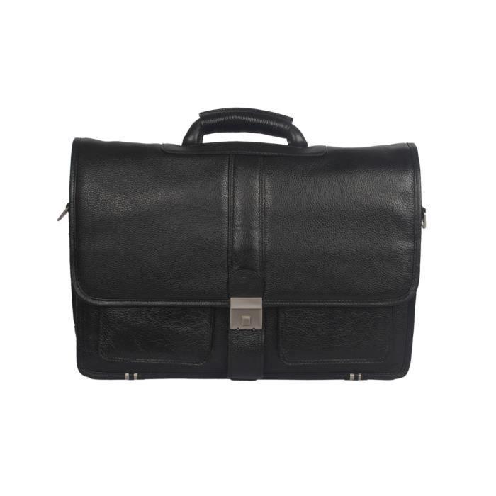 Men Deneb est un de nos plus Accrocheur Couleur cuir noir Sac pour ordinateur portable. PB73E