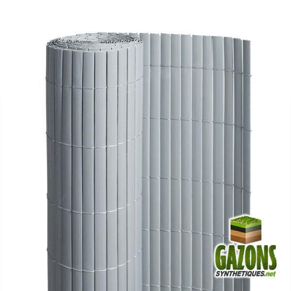 Canisse PVC Gris Double Face 1.80 m x 3 m