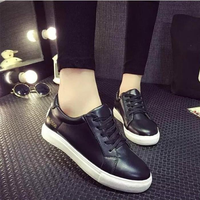 9eef22b15d4c7 Cuir Chaussure Femme Mocassin Femme Basket Femm... Noir - Achat ...