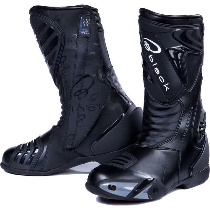 Zéro bottes de moto noires