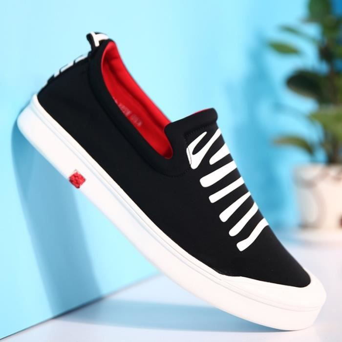 Mode homme respirant Mocassins Slip Canvas Casual Ons IYZGRi6O