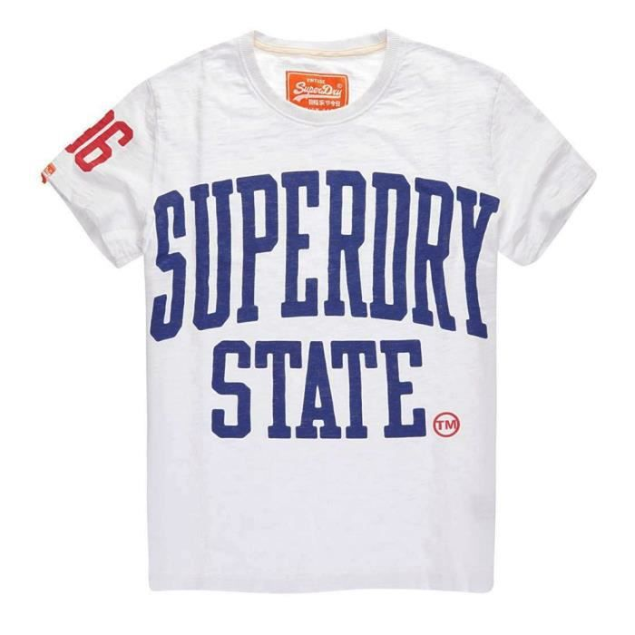 SUPERDRY Superdry State Rebel T-Shirt Mc Homme - Taille M - BLANC ... dd592f0c88f0