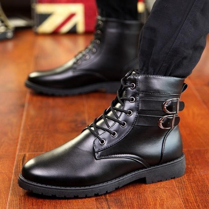 British Style véritable hiver en cuir chaud hommes Bottes hiver confortable de haute qualité Bottes en cuir pour homme ns9cOa