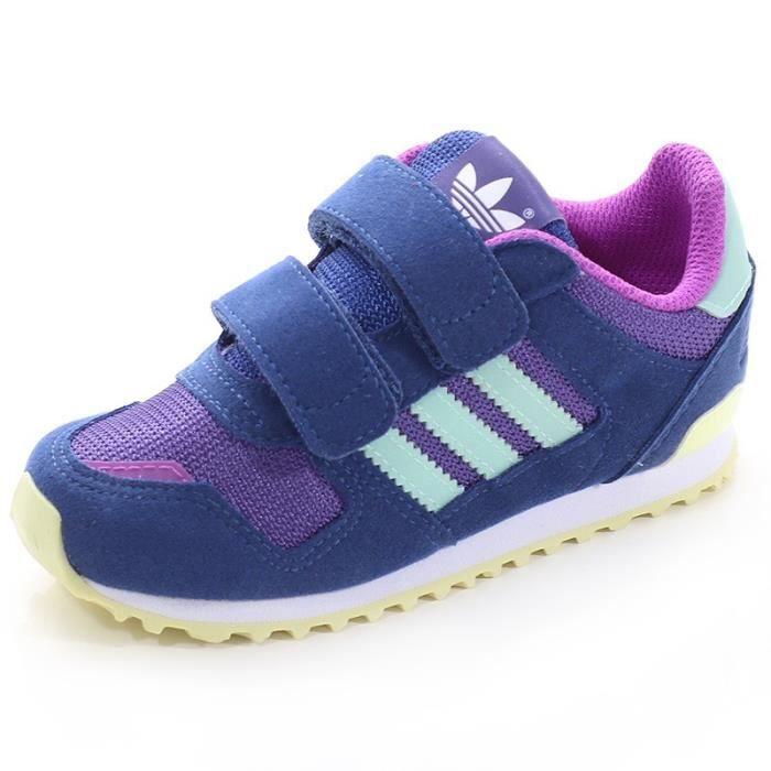 the latest 2f33a 89810 BASKET Chaussures ZX 700 CF Bleu Garçon Adidas