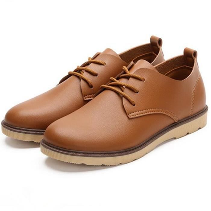 Chaussure Hommes Nouvelle arrivee Antidérapant En Cuir Sneaker Homme Chaussures Marque De Luxe Grande Taille Sneakers pFyv5Swya