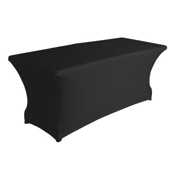 Housse extensible pour table rectangulaire noir achat - Housse de table de jardin rectangulaire ...