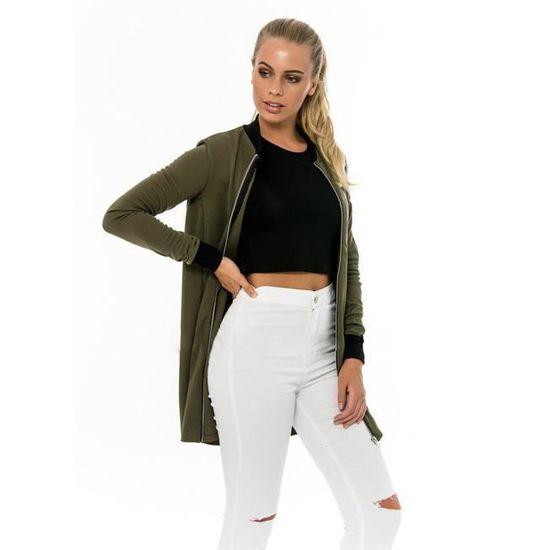 De Trench Veste Manteaux Mode Femmes Slim Long nbsp;vert Cardigan La Manteau Parka WBEqw01FR