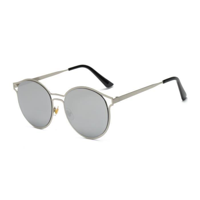 Femmes hommes Vintage rétro lunettes de mode unisexe Aviator lunettes de soleil lentille miroir AR