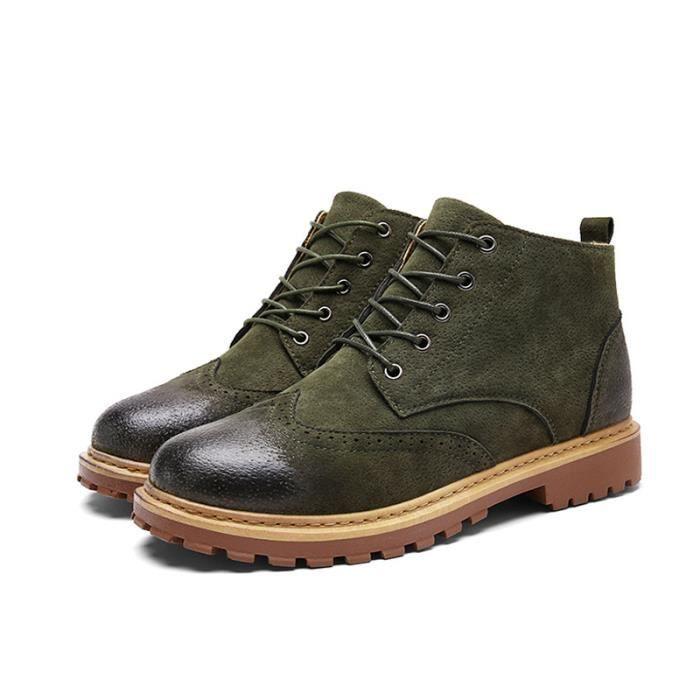Bottine Homme Comfortable Classique Chaussure Hommes BYLG-XZ218Vert42