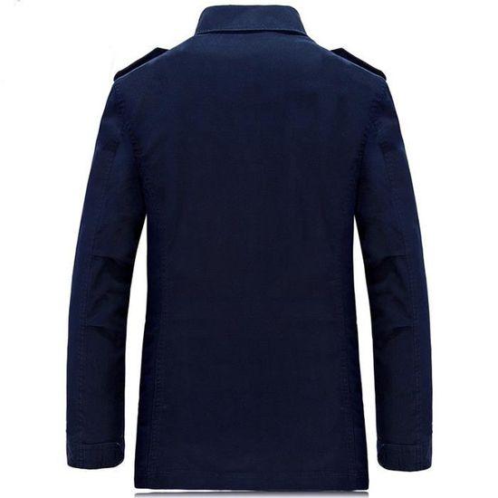 Baggy Casual Parka Taille Kaki De Grande Homme Coton Mode Hommes ZxwqUtR