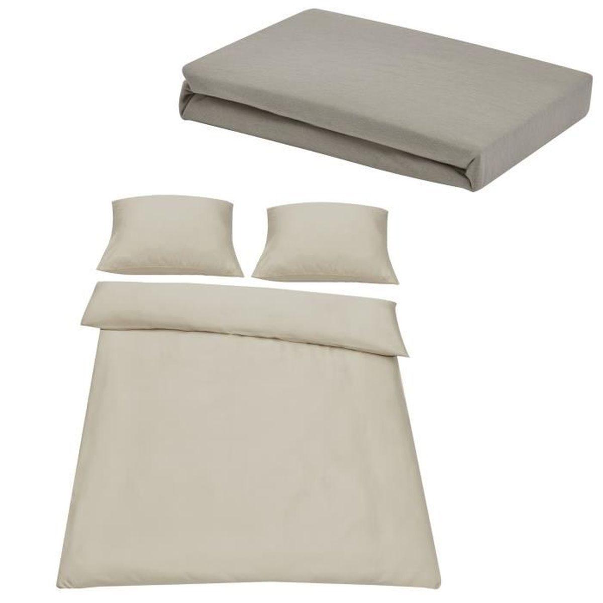 neu.haus® Drap-housse 180-200 x 210 cm bordeaux 100/% coton