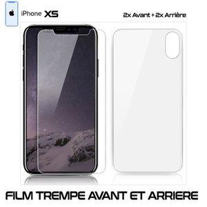 FILM PROTECT. TÉLÉPHONE Lot 2 - Film Protection Verre Trempe 2 Avant et 2.  ‹› 589e234df16