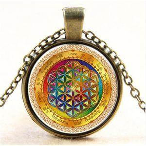 3af3bb94128 SAUTOIR ET COLLIER haute Quaity chaîne en argent fleur de vie pendent