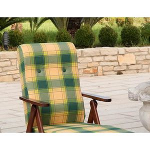 FAUTEUIL Molisana fauteuil relax inclinable en bois réglabl
