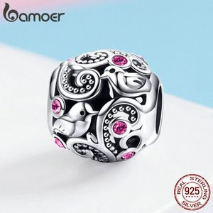 Charm's BAMOER 2019 Charms Argent 925/1000 Messager d'amou