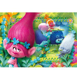 PUZZLE Puzzle 104 pièces : Trolls aille Unique Coloris Un