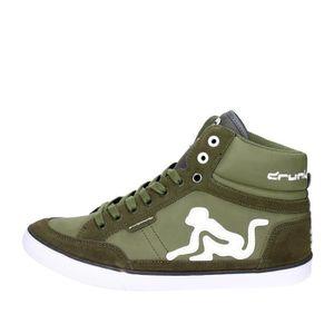 Drunknmunky Haute Sneakers Homme Vert foncé 40  Vert foncé - Achat / Vente basket  - Soldes* dès le 27 juin ! Cdiscount