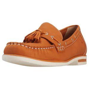 MOCASSIN Caprice Laceless Tassel Loafer Orange Femmes Mocas