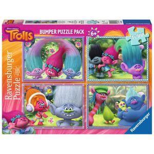 PUZZLE Puzzle 100 pièces 4 Puzzles - Trolls