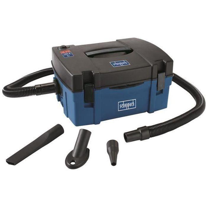 SCHEPPACH Aspirateur multifonctions 5 L avec accessoires et sac de récupération de poussière HD2P