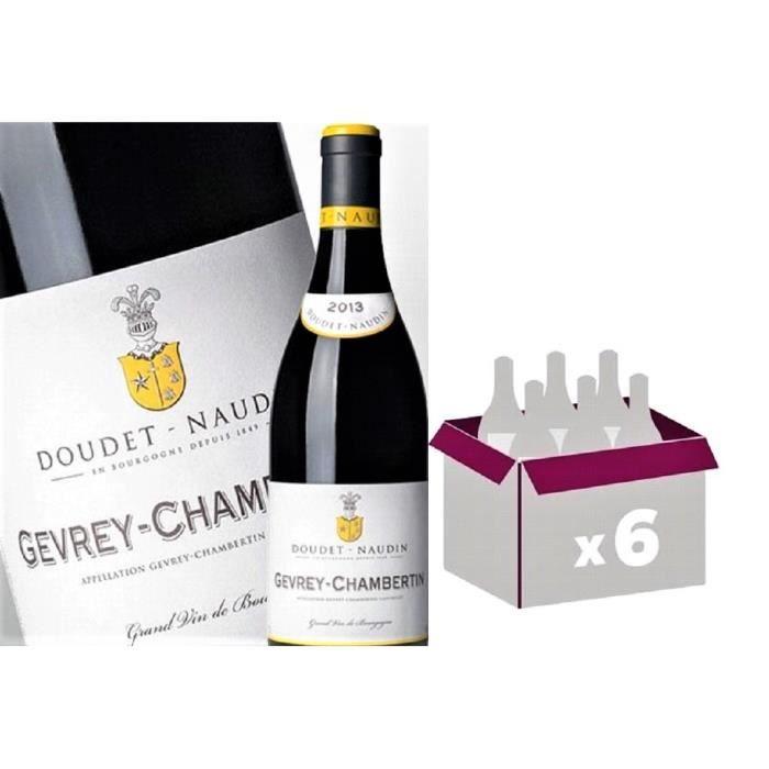 VIN ROUGE Lot de 6 Gevrey Chambertin 2013 - Domaine Doudet N