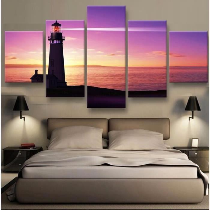 5 panneau imprimé moderne peinture à l\'huile tableau mural pour salon style  moderne III(pas étiré pas encadré)