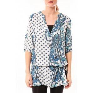 TuniqueLove Look B 40 Bleu/Blanc - vetement femme Couleur Bleu/Blanc Taille TU
