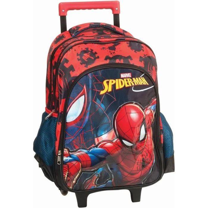 CARTABLE Sac à roulettes Spiderman Marvel 43 CM HAUT DE GAM