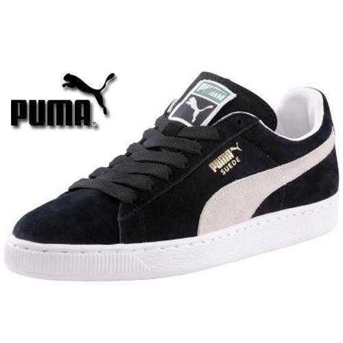 puma suede noir et blanc