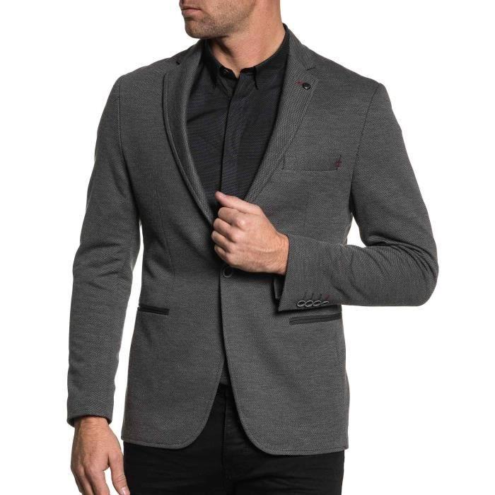 Veste de costume gris fonc pour homme gris achat vente veste black friday le 24 11 cdiscount - Costume gris fonce ...