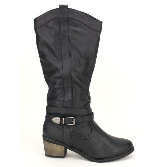 Bottes Femme Noir Cendriyon Chaussures botte pZdwCqp