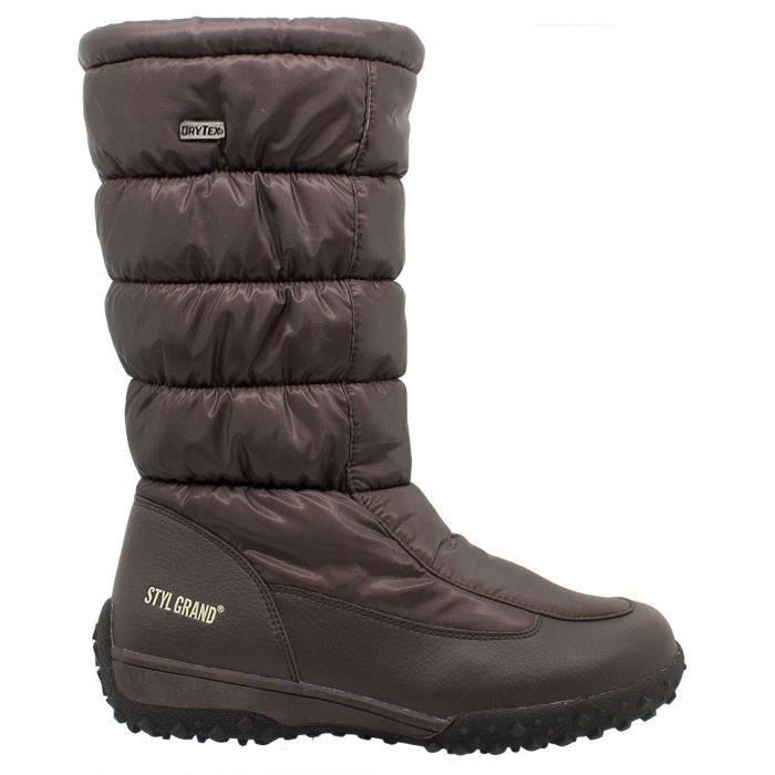 Styl Grand - 2723 - Bottes de neige FemmeMarron 41