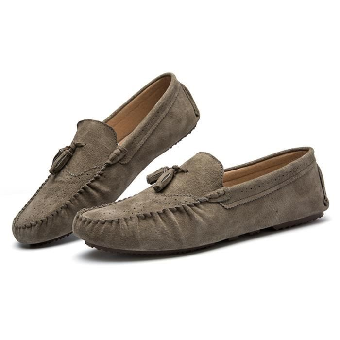 Chaussures pour hommes Cool des chaussure de conduite Poids Léger Moccasins homme Durable Antidérapant Moccasin à semelles souples jVlN8sGQya