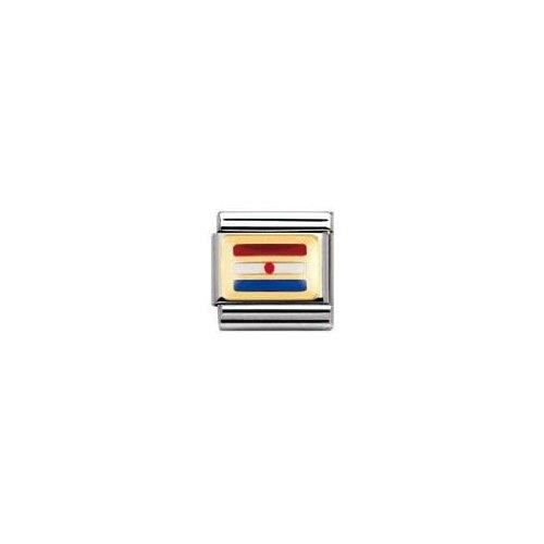 Nomination 030234 - Maillon Pour Bracelet Composable - Femme - Acier Inoxydable Et Or Jaune 18 Cts TYXML