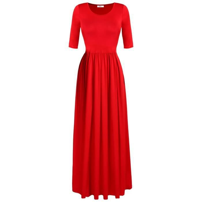 Maxi Long robe ROUGE