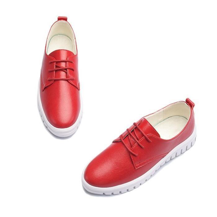 Skateshoes Femme Outdoor Sneaker Sweat de la femme Absorption dermique rouge taille6.5