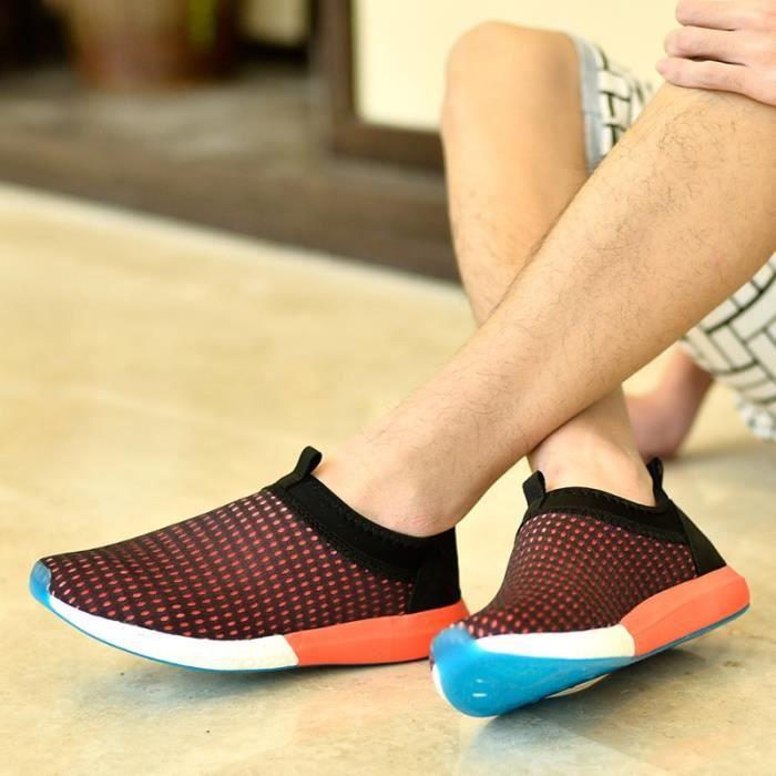 Casual Mocassins Mode d'été Hommes Slip Ons Chaussures Mesh