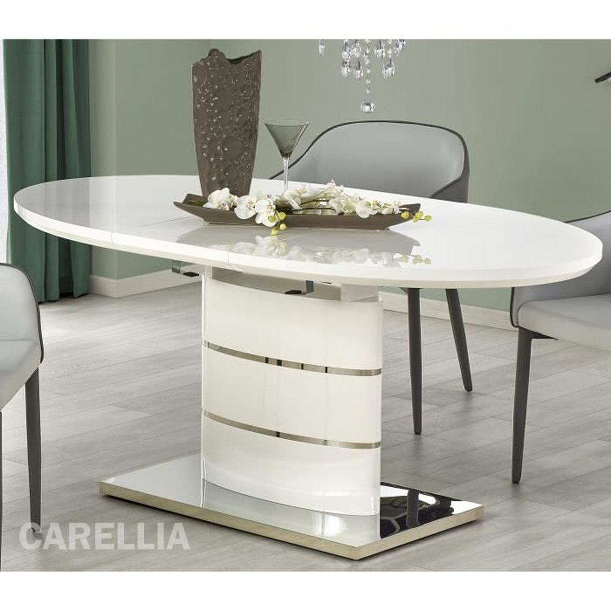273bae90fa020f TABLE A MANGER OVALE EXTENSIBLE – L   140 ÷ 180 CM