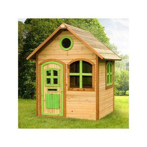 Maison enfant exterieur en bois Julia - 1.44 m? - 1.18 x 1.20 x 1.74 m