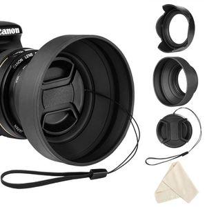 BOUCHON D'OBJECTIF Ensemble de pare-soleil 58mm pour Canon EF-S 18-55