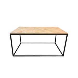 TABLE BASSE Table basse bois et métal Autres Beige, Noir
